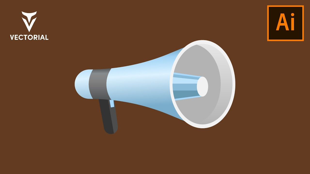 Megaphone illustration in Adobe illustrator