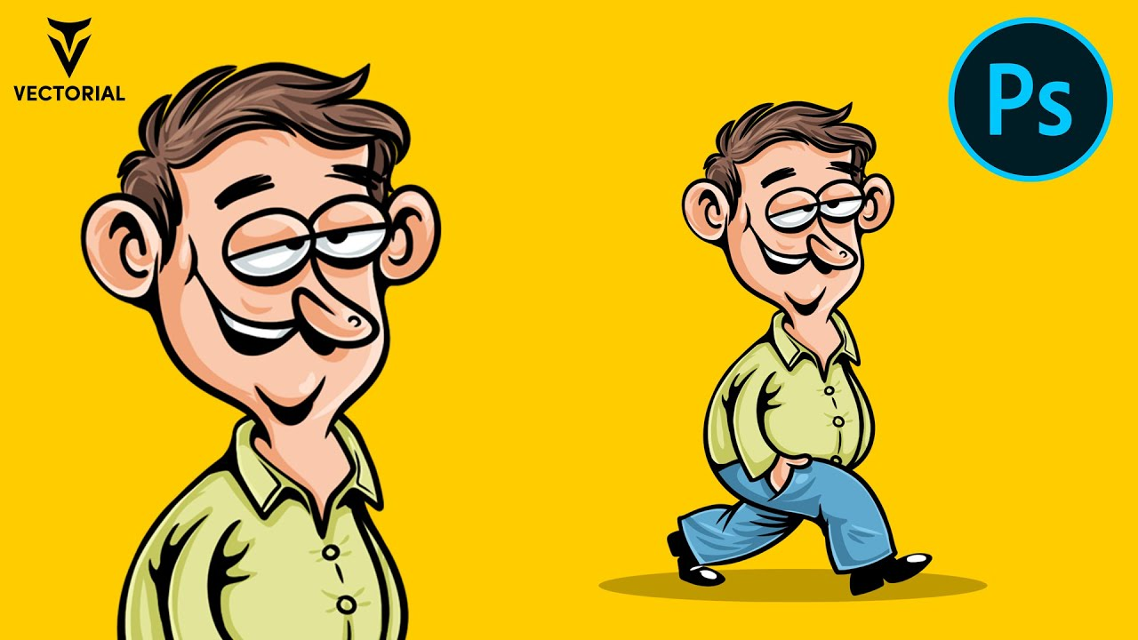 How to draw a cartoon in Adobe Photoshop – Character design