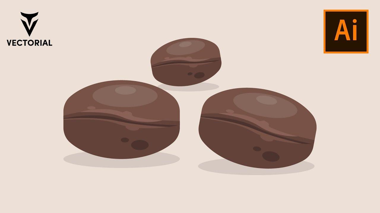 Coffee Beans tutorial in Adobe illustrator 2020