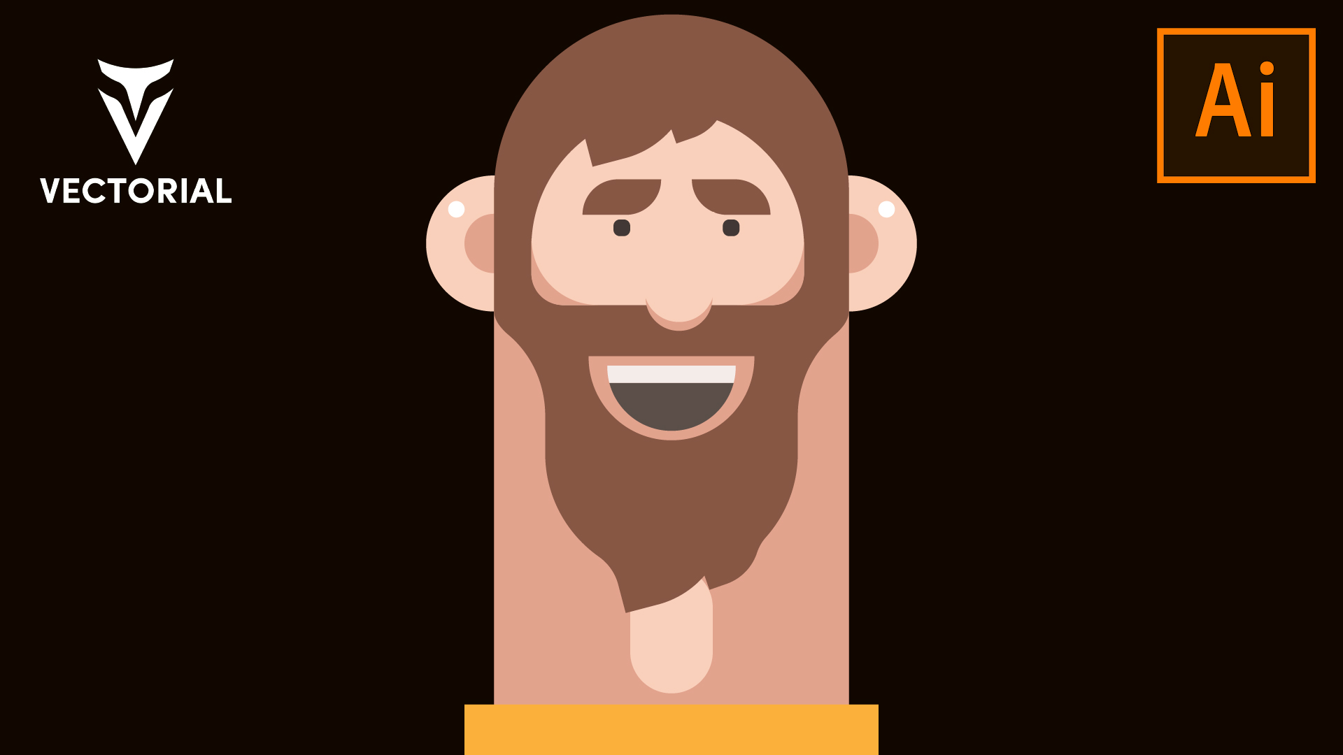 Flat CHARACTER DESIGN in Adobe illustrator – STEP BY STEP Drawing Tutorial for beginners