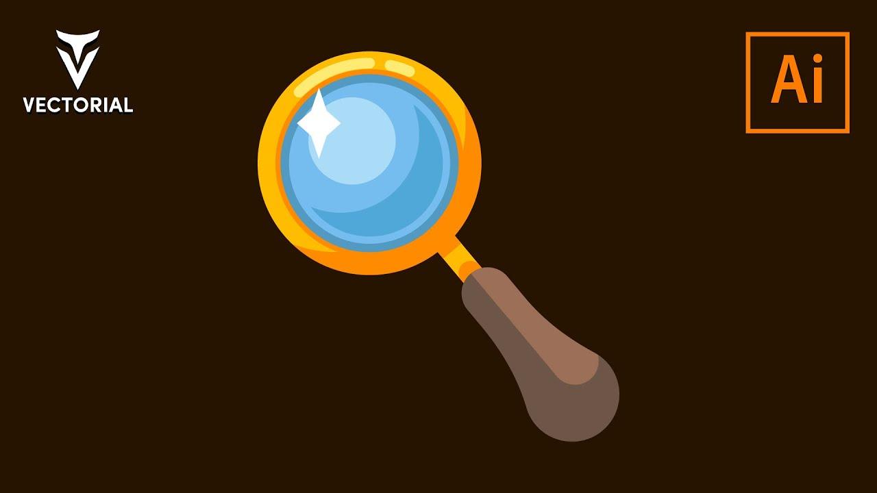 Magnifying glass tutorial in Adobe Illustrator 2020