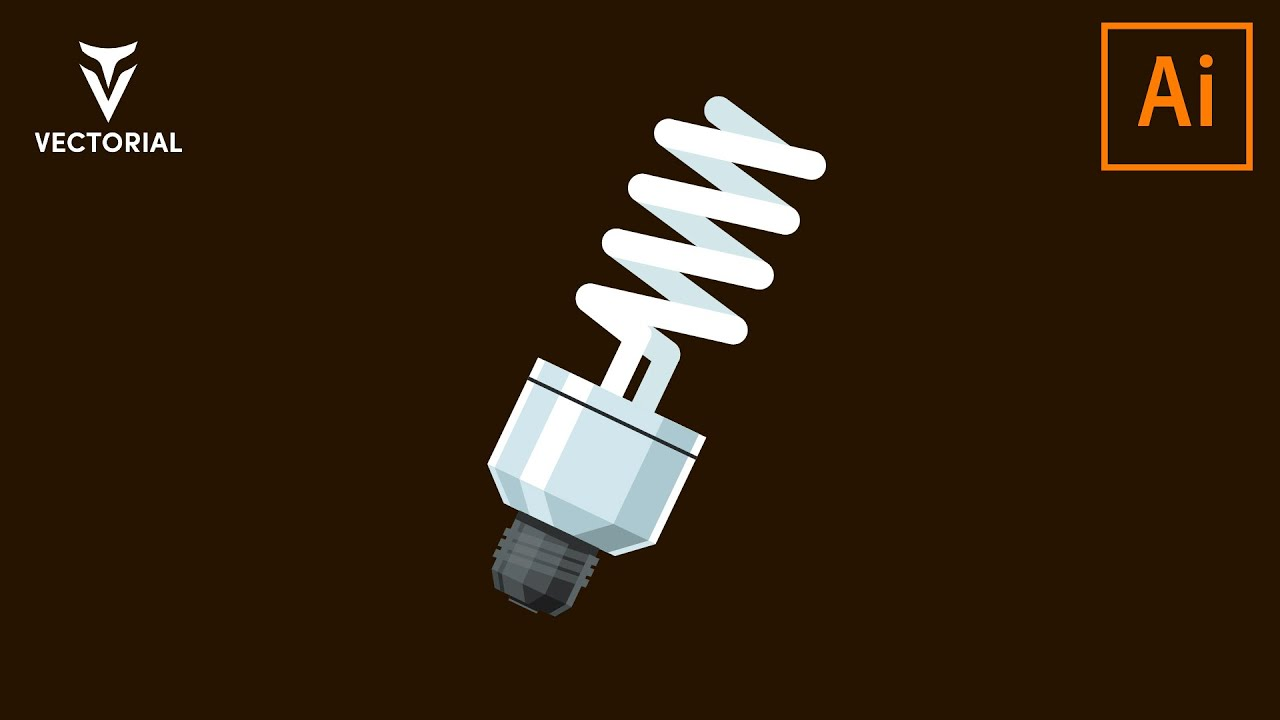 Light Bulb tutorial in Adobe illustrator 2020