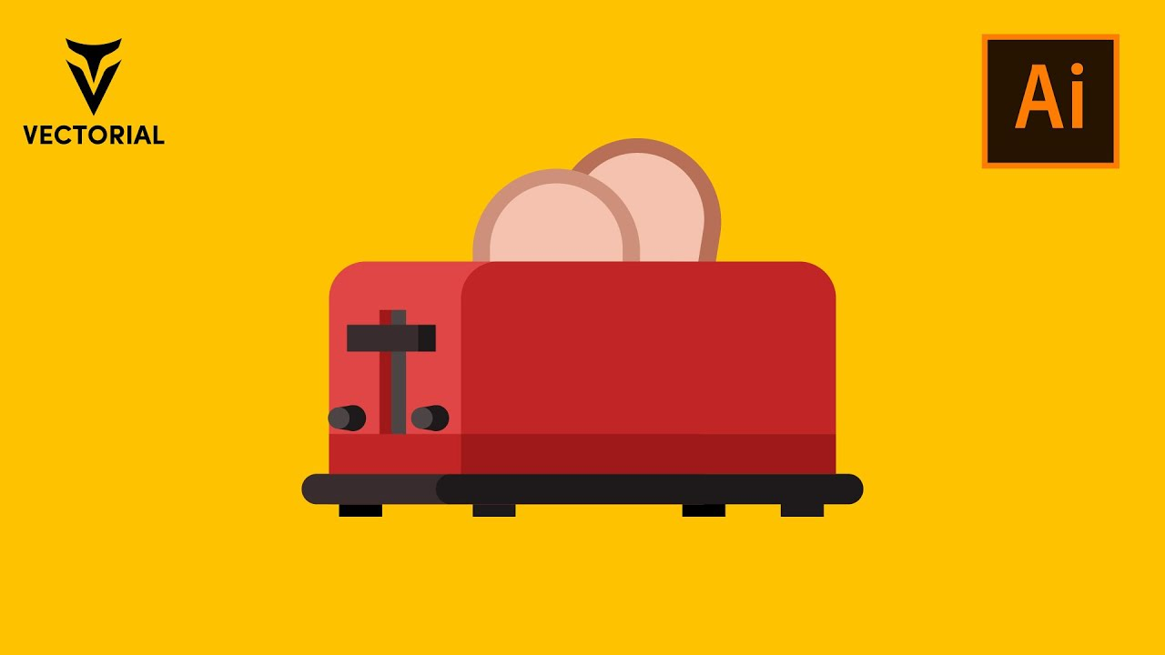 How to make a Toaster in Adobe Illustrator 2020