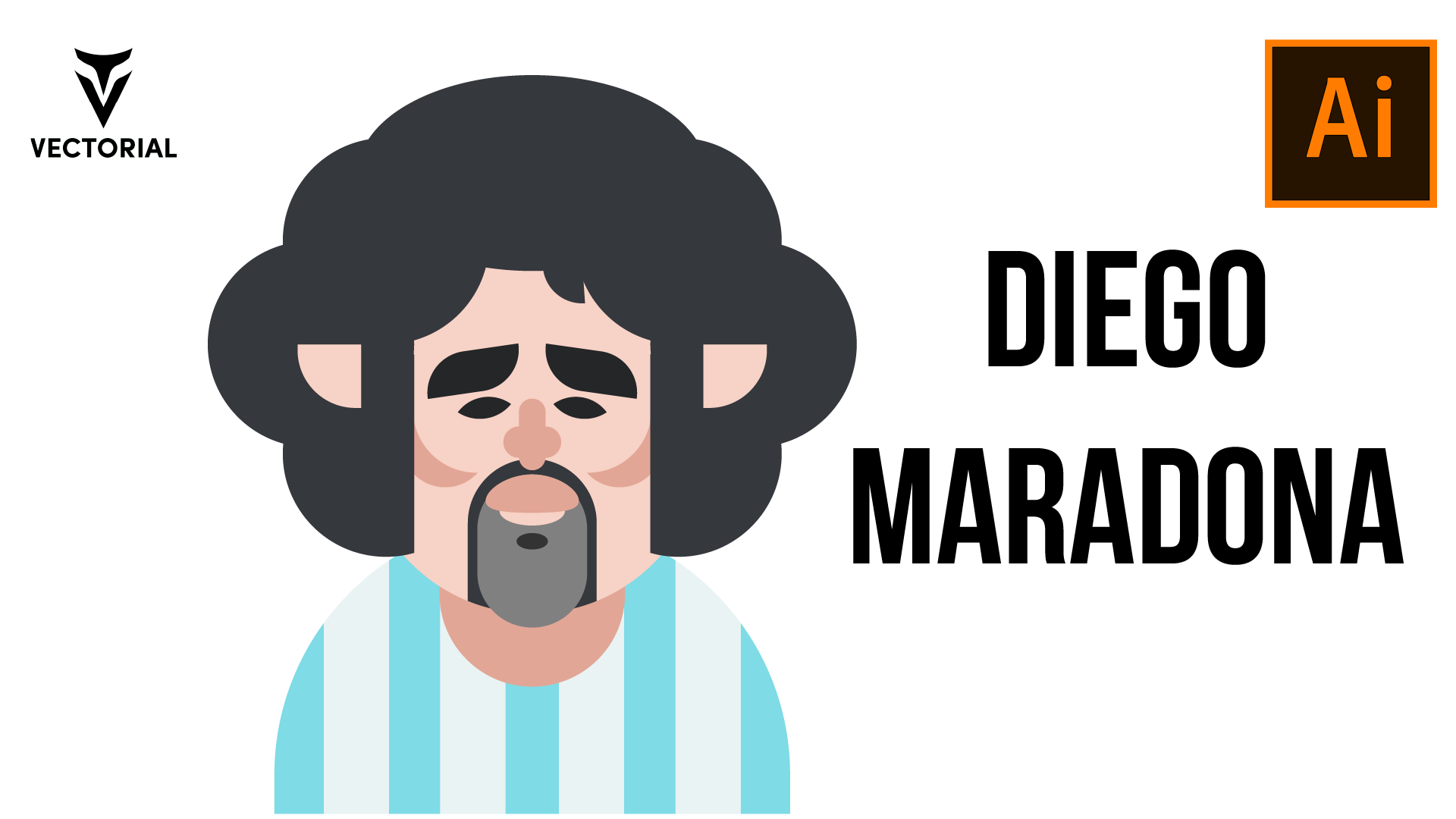 Diego Maradona vector tutorial in Adobe Illustrator