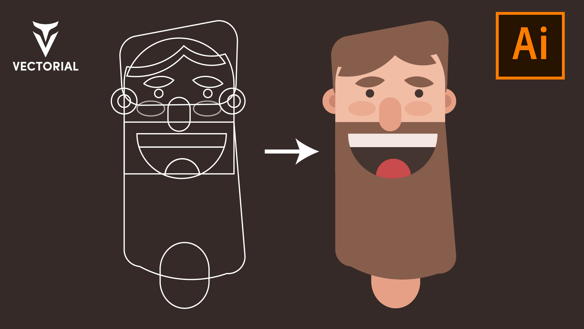 How to draw character in Adobe Illustrator