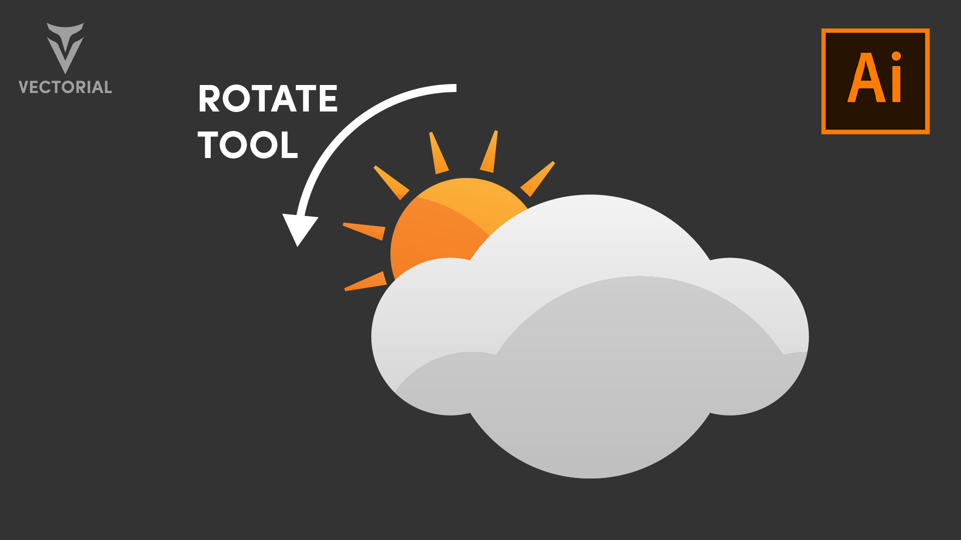 Sun Cloud icon tutorial in Adobe Illustrator  2020