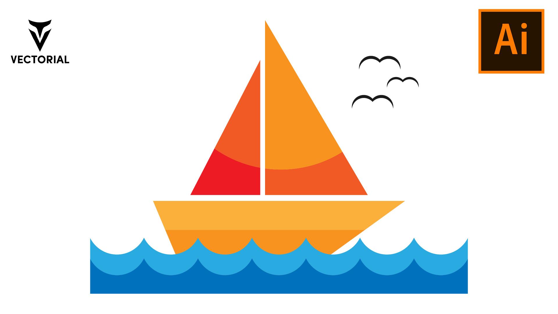 Easy Ship icon tutorial in Adobe Illustrator for beginners