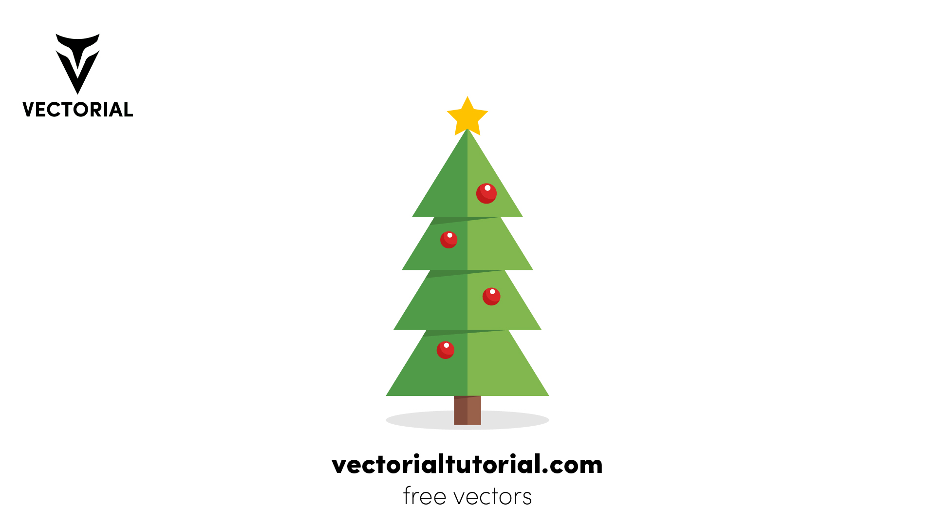 Flat Christmas Tree – Free vector illustration