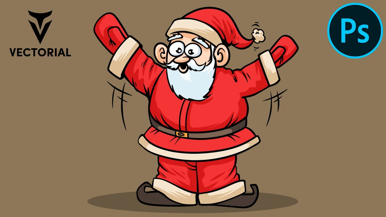 How to Draw Santa Claus in Adobe Photoshop