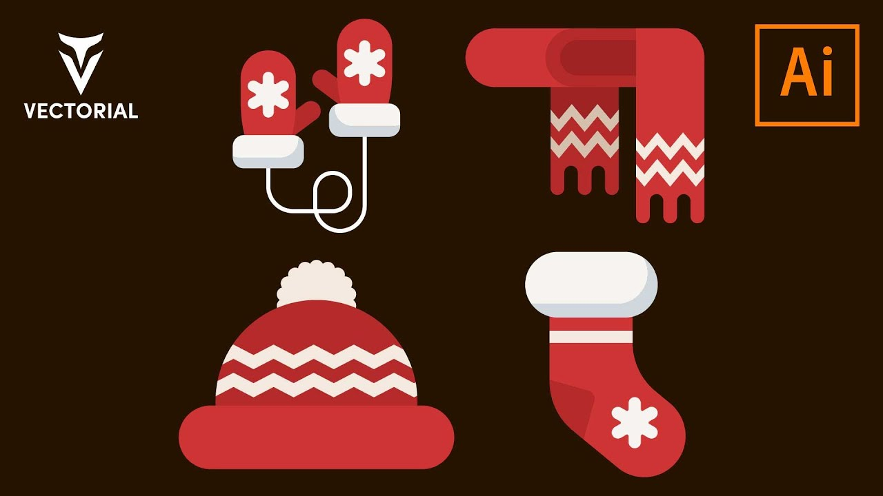 Winter clothes collection tutorial in Adobe Illustrator