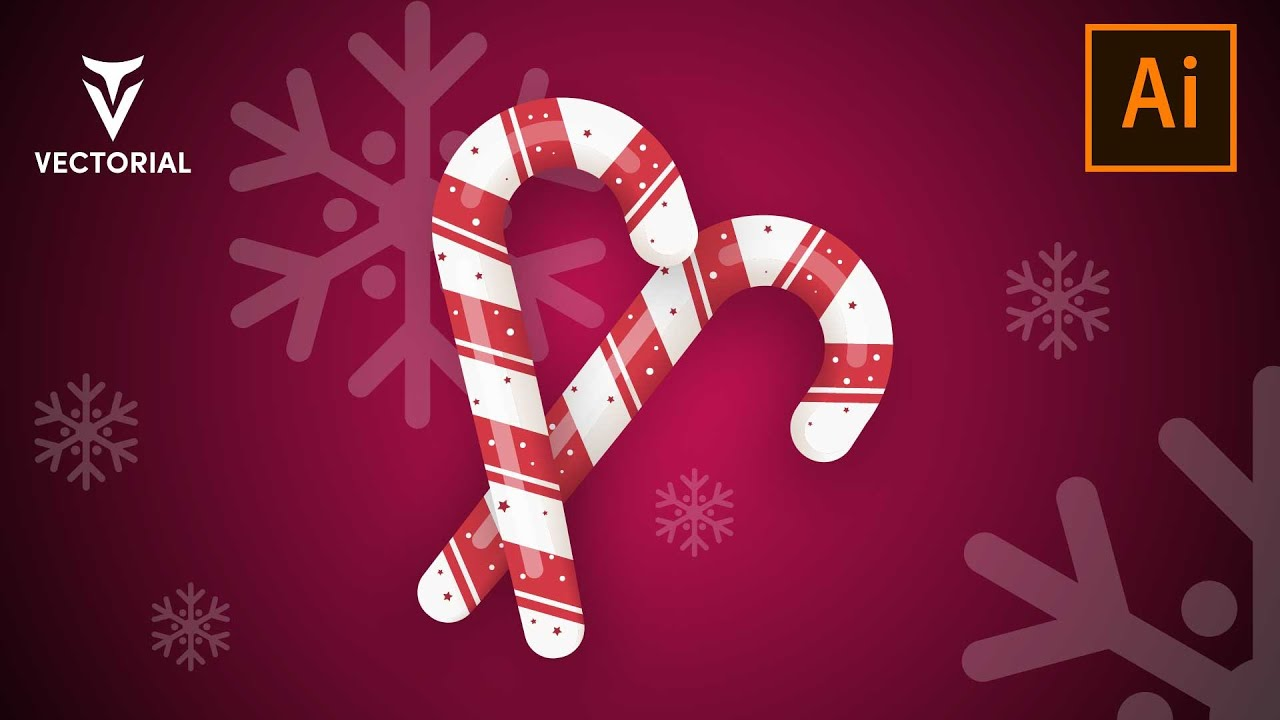 Christmas Candy Cane tutorial in Adobe Illustrator