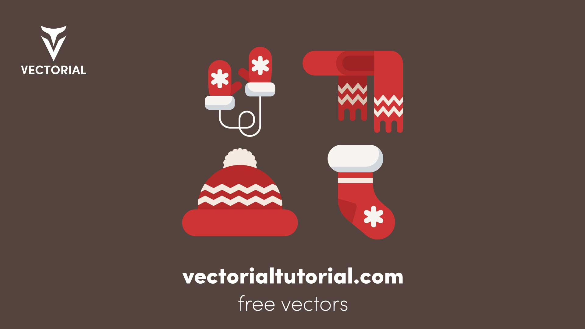 Winter clothes collection. Christmas party items Free vector illustration
