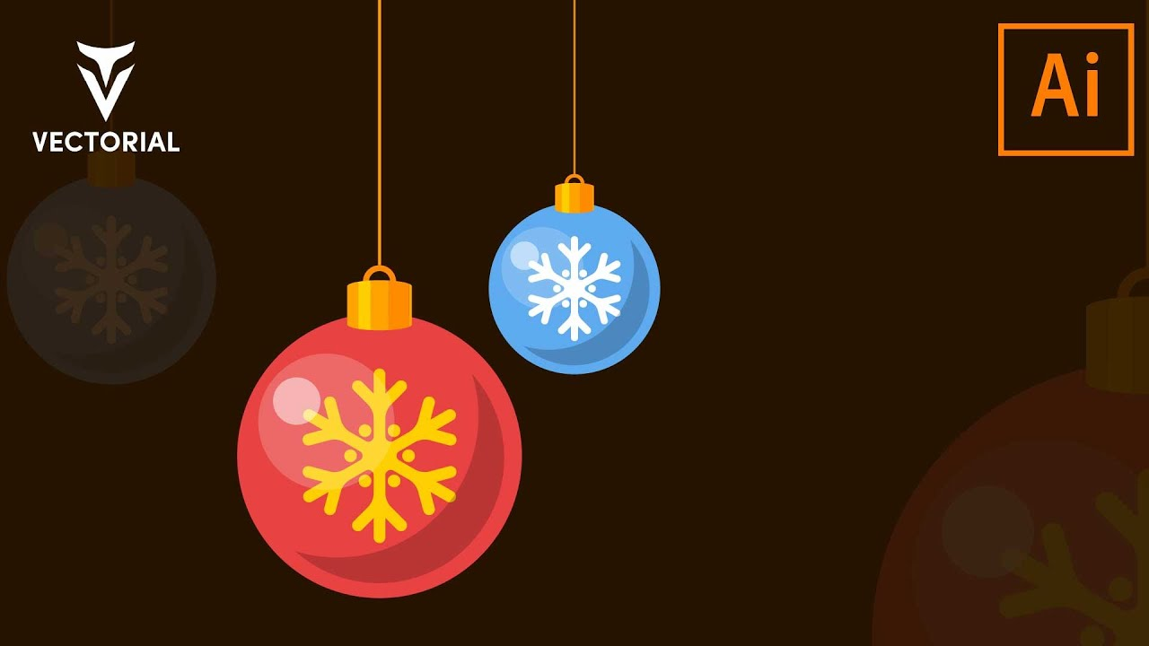 Decoration balls tutorial in Adobe Illustrator