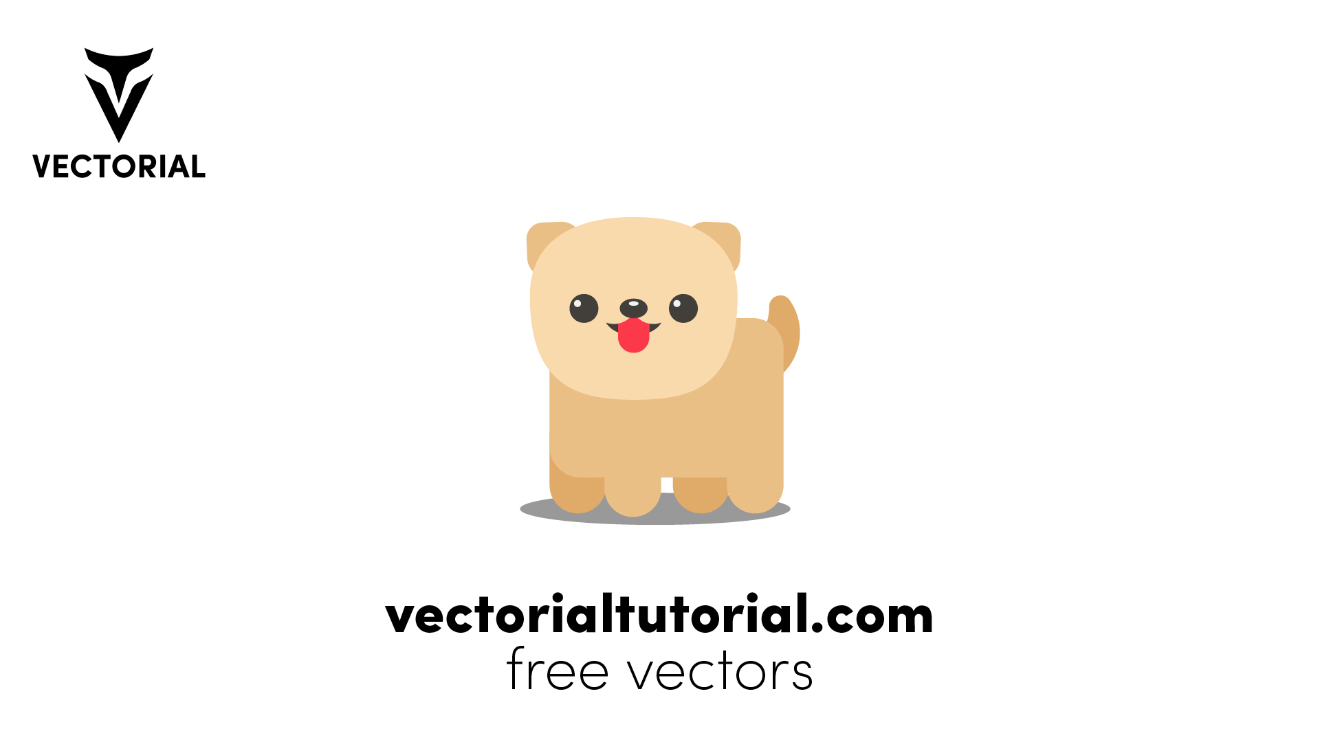 Flat design Dog – Free vector illustration
