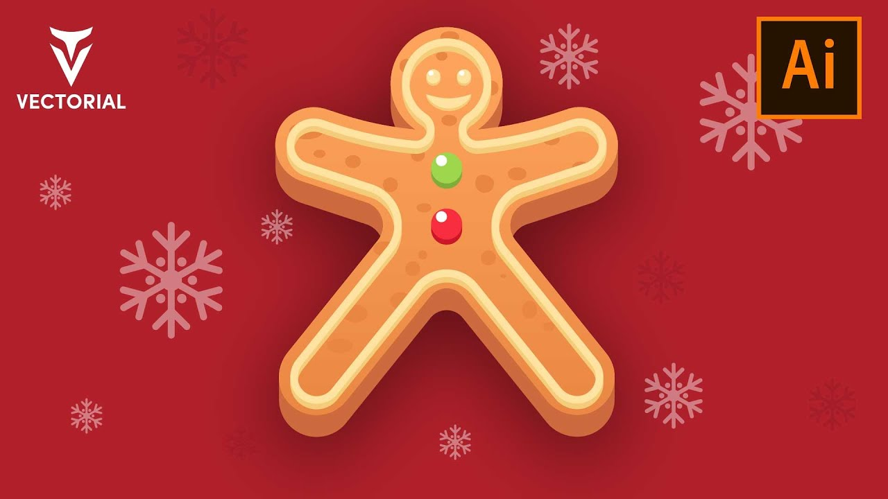 How to Draw a Gingerbread Man in Adobe Illustrator