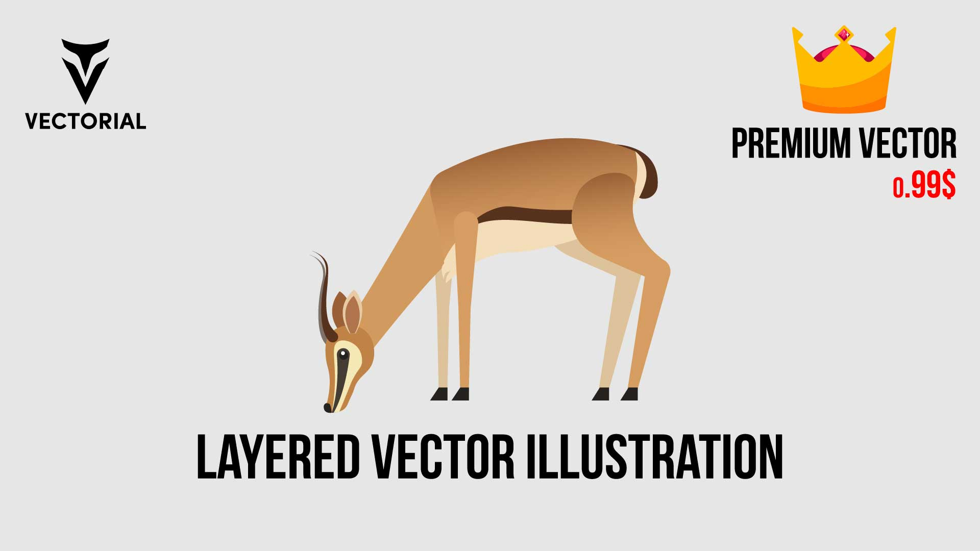 Layered Gazelle vector illustration