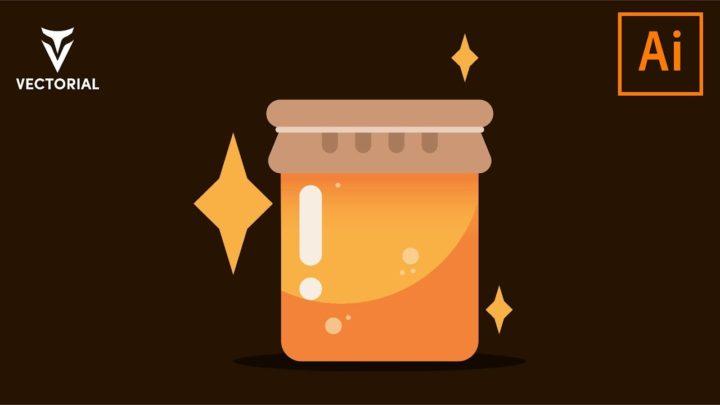 Honey jar tutorial in Adobe Illustrator