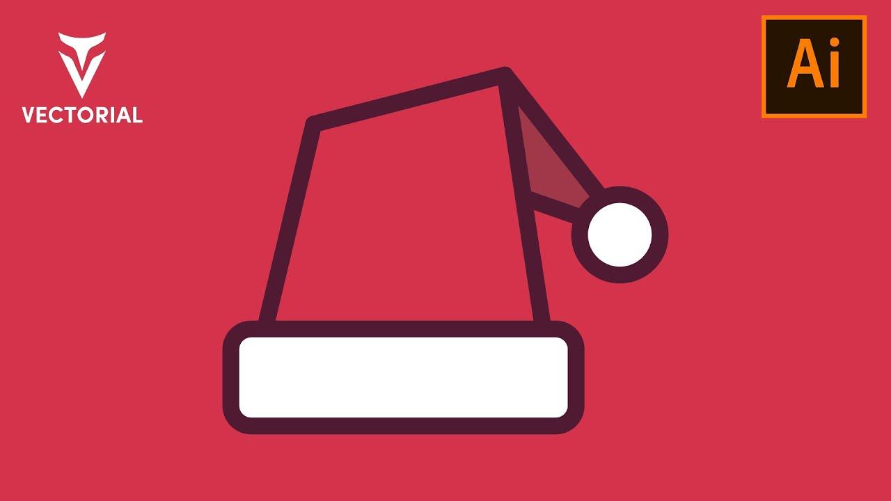 Santa Hat tutorial in Adobe Illustrator 2020