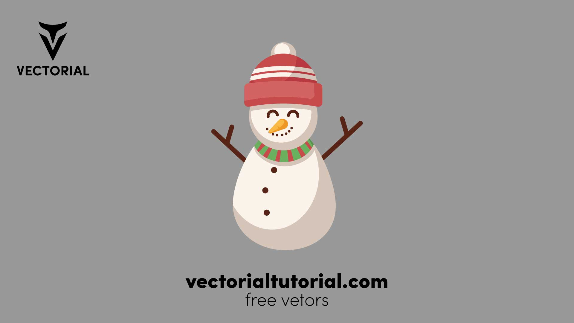 Snowman flat icon – Free vector illustration