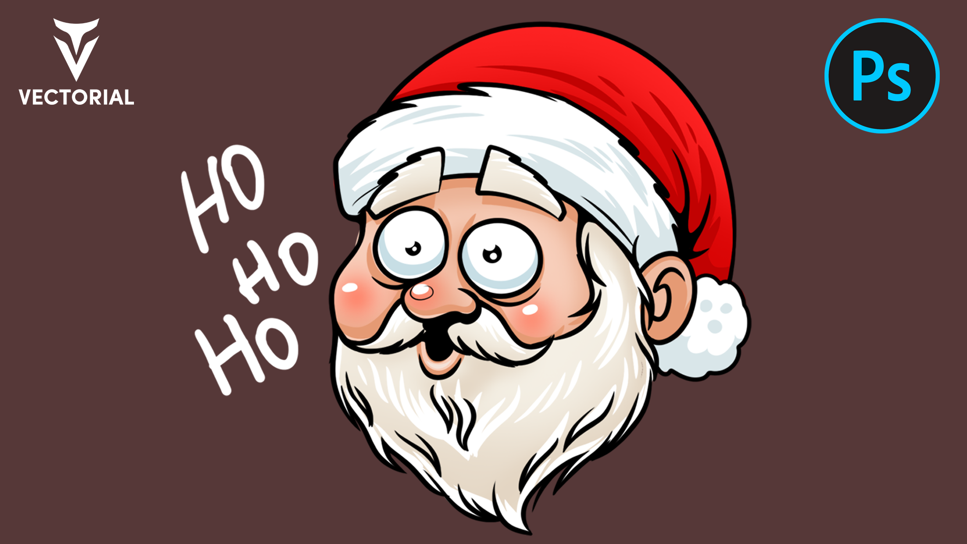 How to draw a Santa Claus in Adobe Photoshop