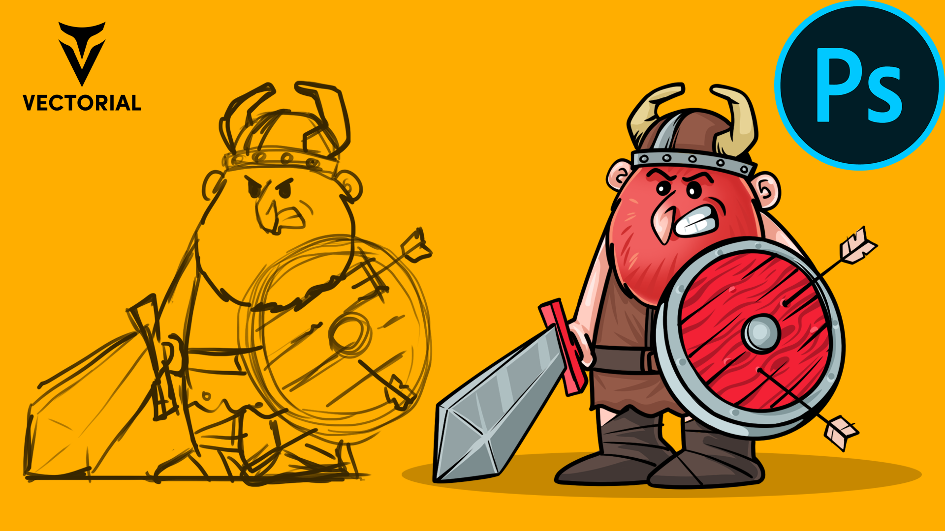 How to draw a Viking in Adobe Photoshop