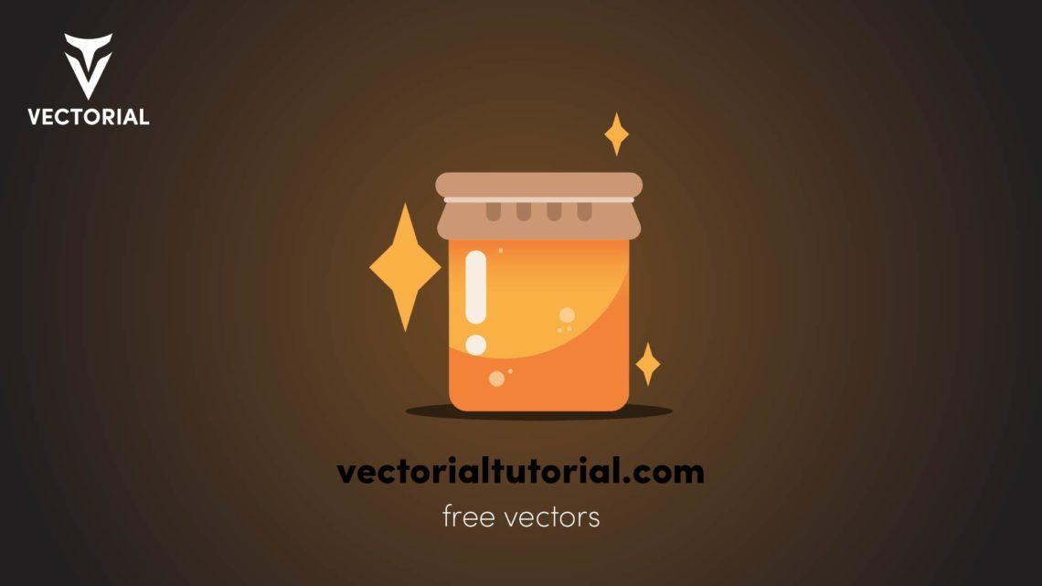 Honey jar – Free vector illustration