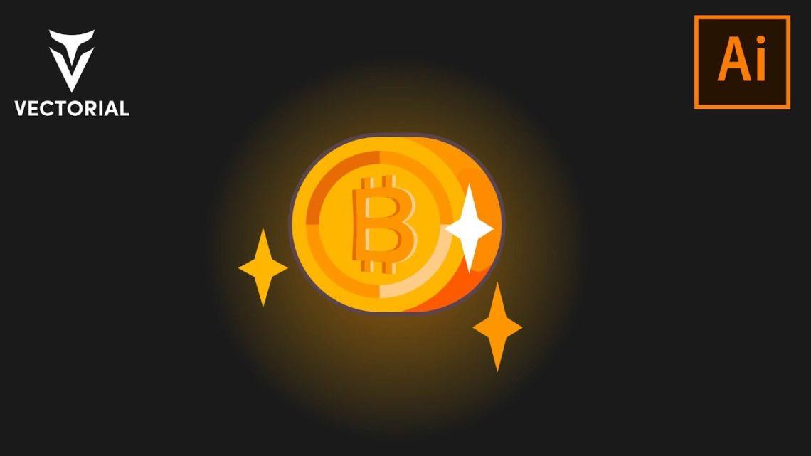 Bitcoin tutorial in Adobe Illustrator