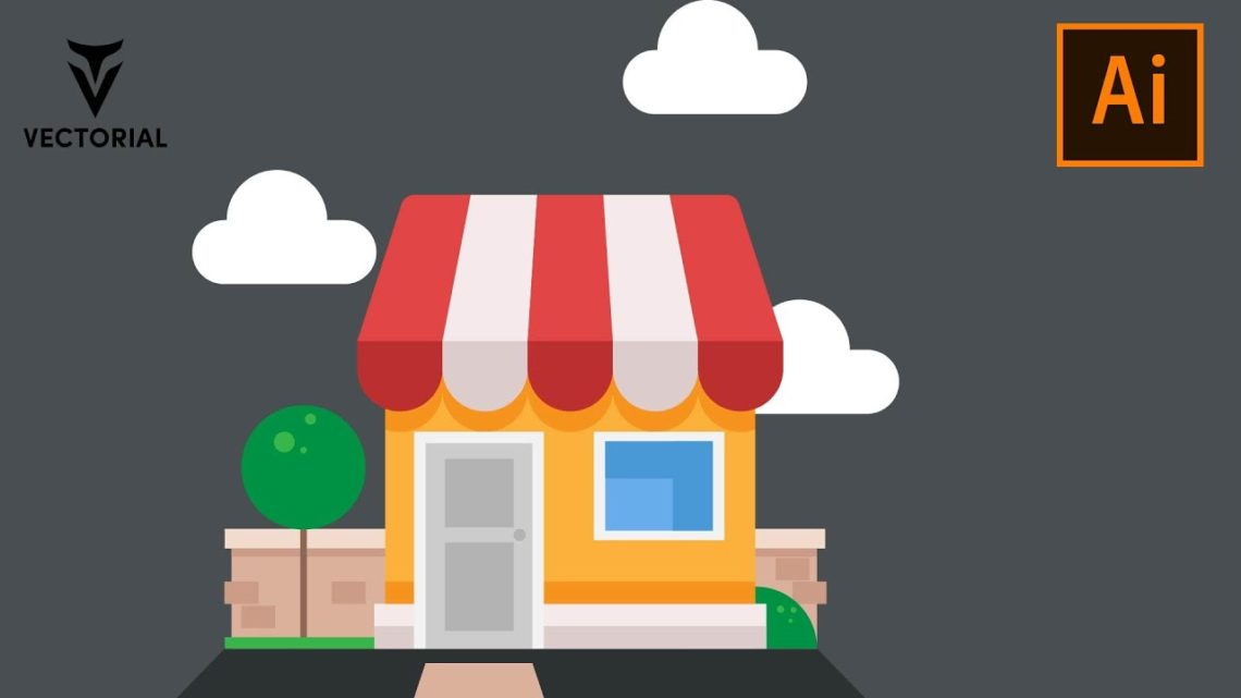 How to Draw a Shop building in Adobe Illustrator