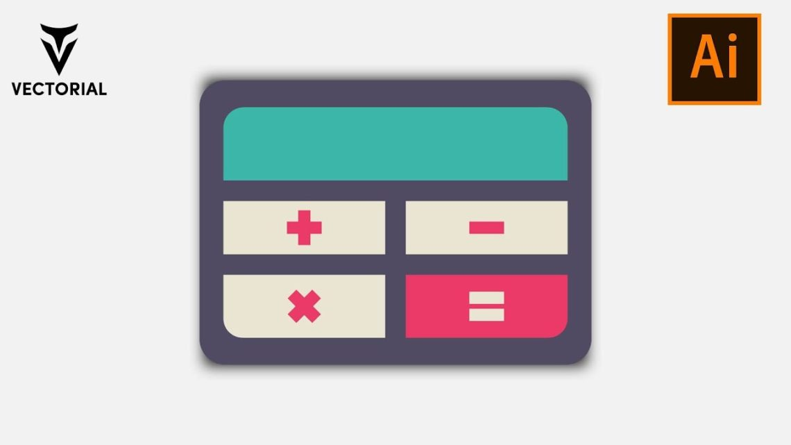 How to Make a Calculator icon in Adobe Illustrator