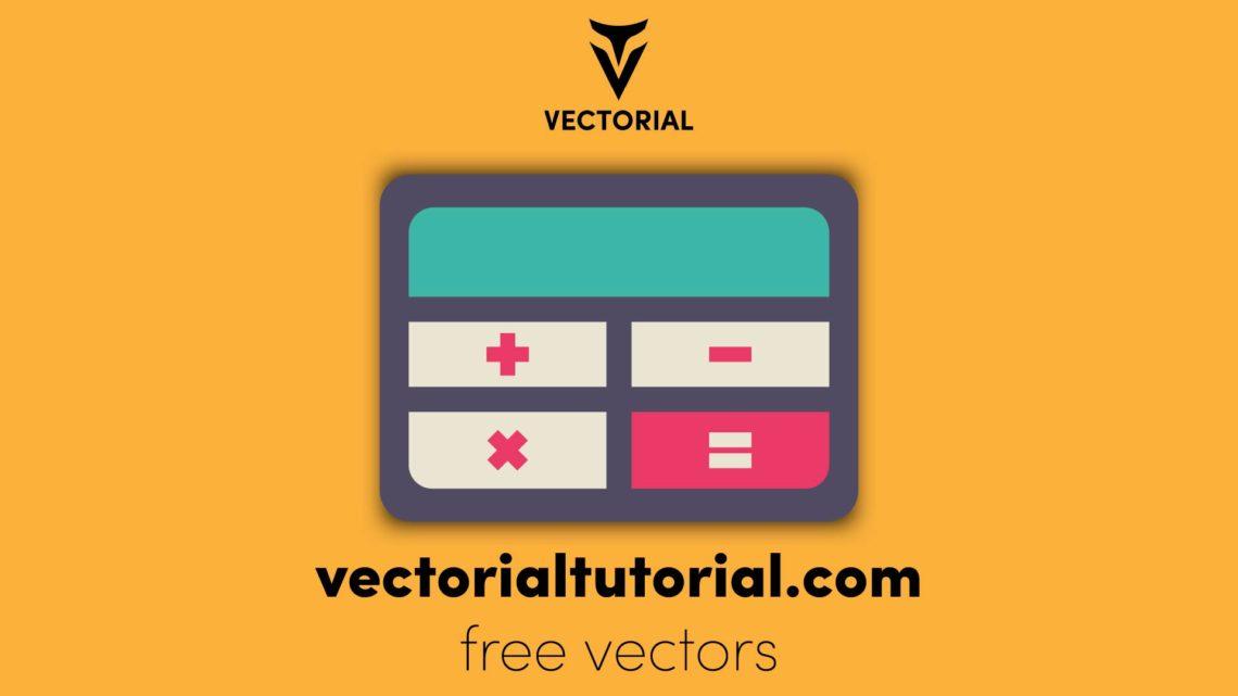 Calculator icon, Free vector illustration
