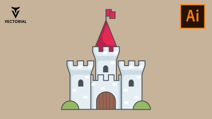 How to Make a Castle in Adobe Illustrator – Easy tutorial