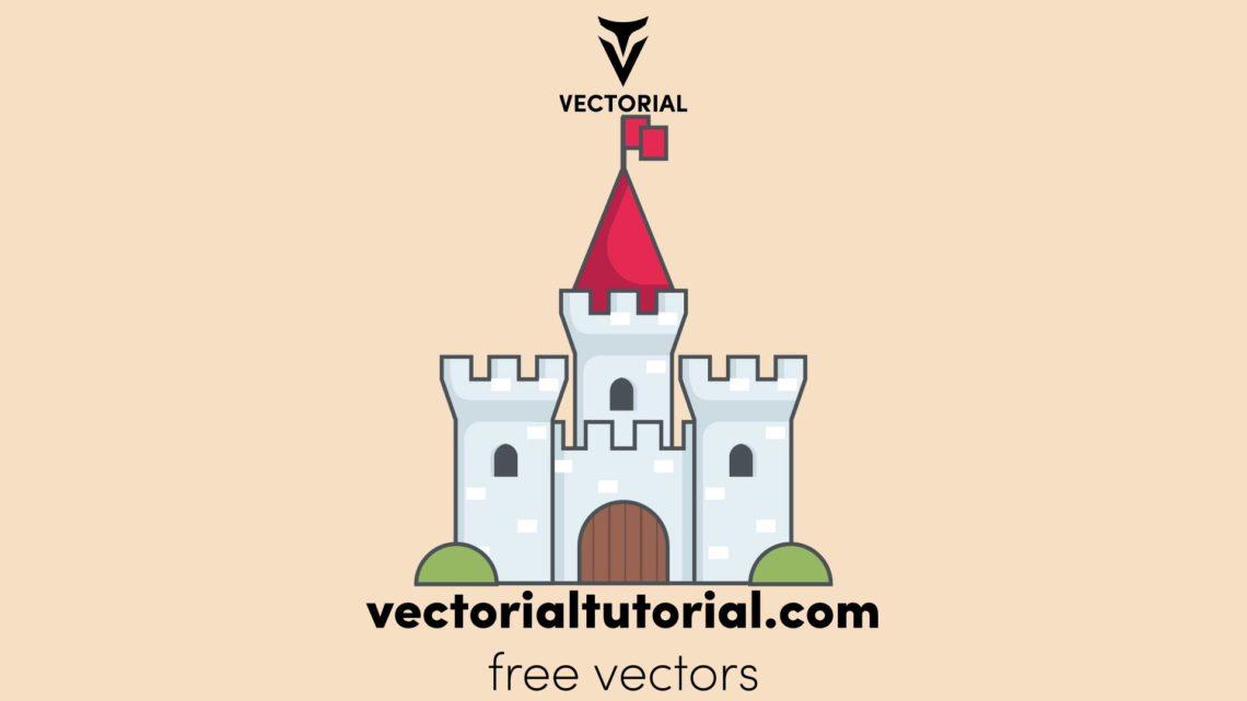 Medieval castle – Free vector illustration