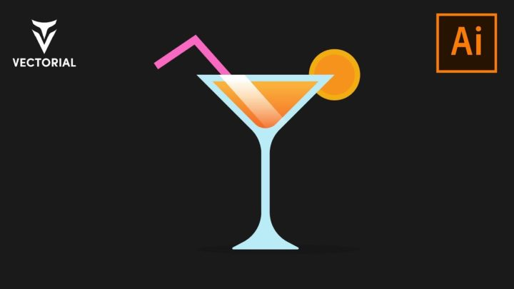 How to make a coctail icon in Adobe Illustrator