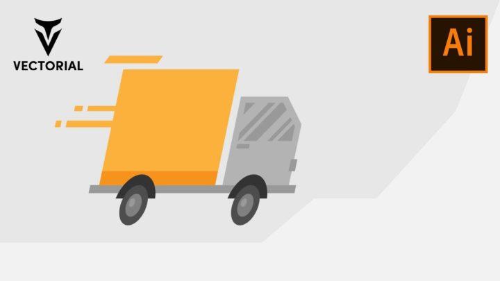 Fast Delivery Truck tutorial in Adobe Illustrator