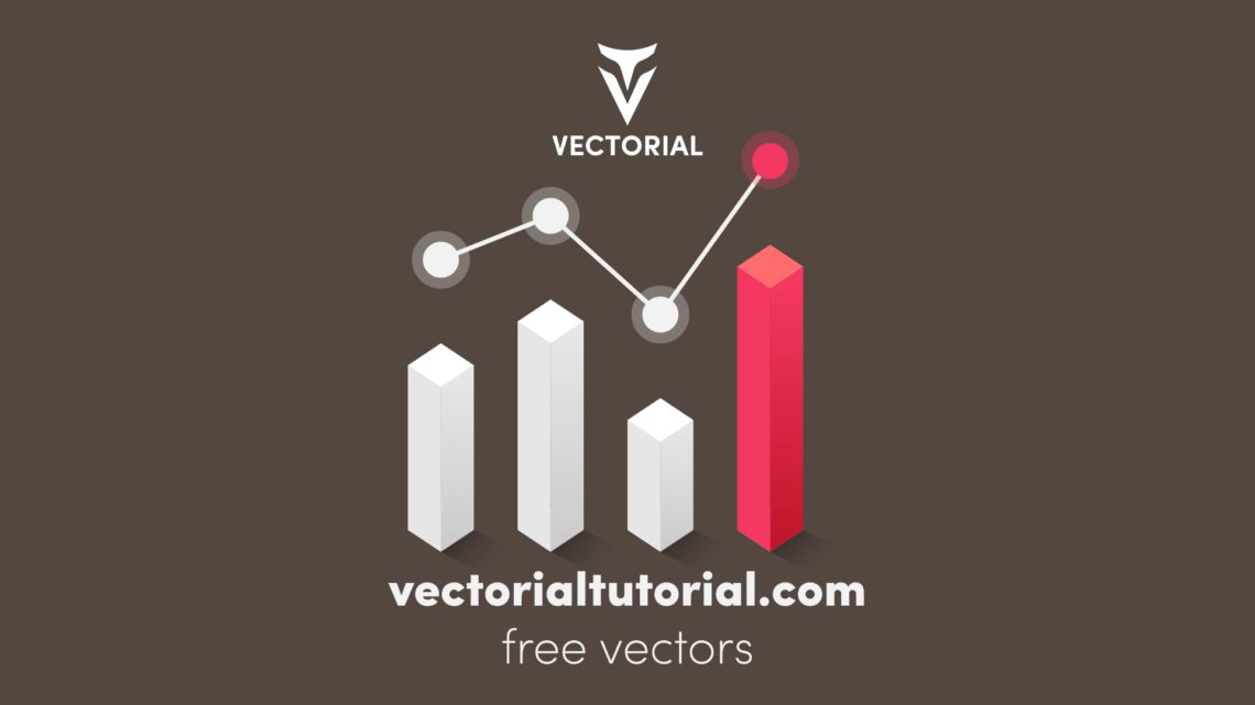 Isometric Analytics icon, Free vector illustration