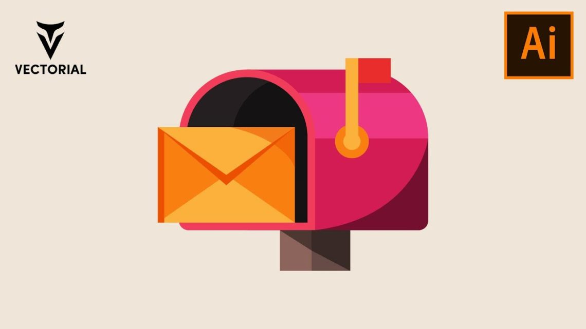 How to make a Mailbox with letter in Adobe Illustrator – Easy tutorial for beginner