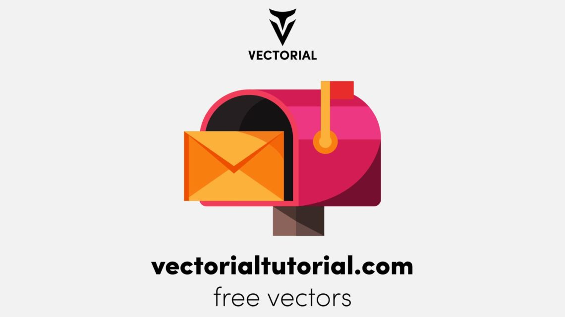 Mailbox with letter, Free vector illustration
