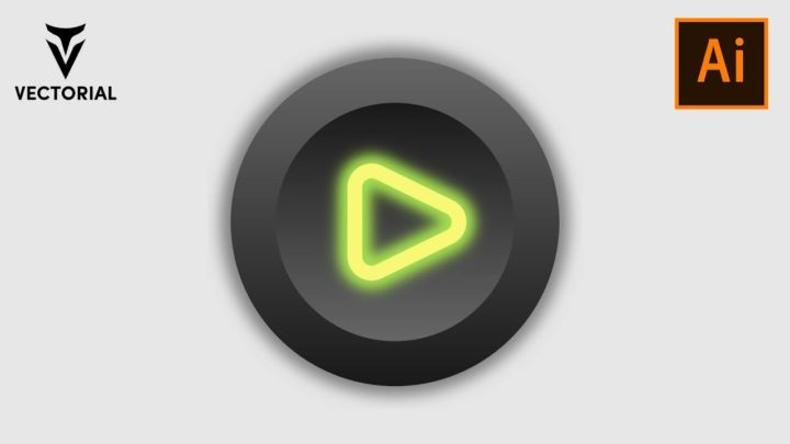 How to make a Neon Play button in Adobe Illustrator