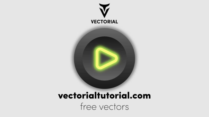 Play button Free vector illustration