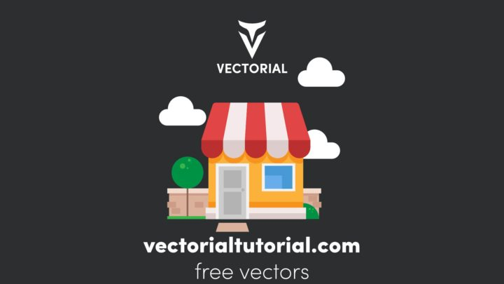 Shop building – Free vector illustration