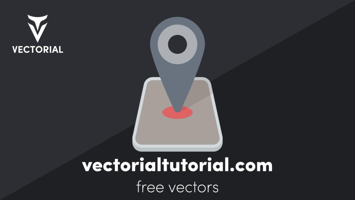 Location Pin icon – Free vector illustration