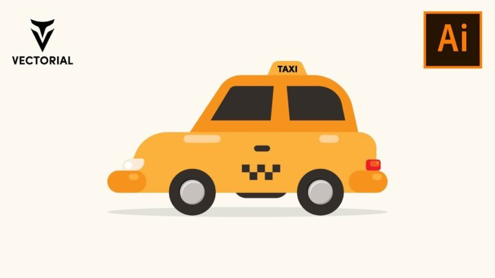 How to make a Taxi car in Adobe Illlustrator