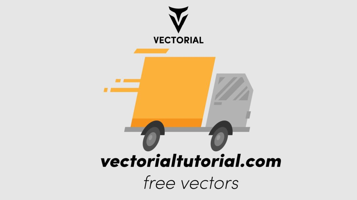 Fast Delivery truck Free vector illustration