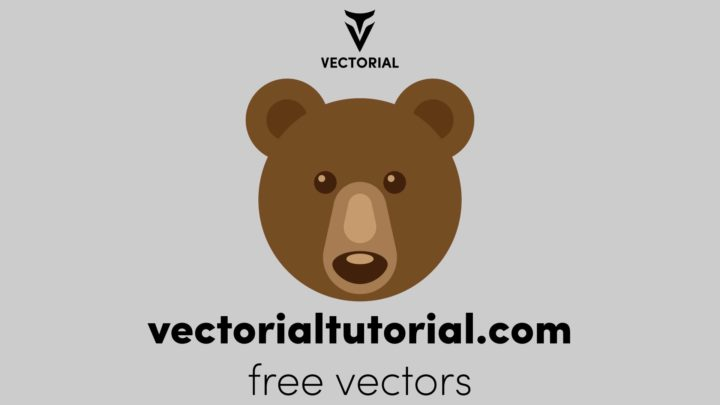 Flat design Bear Free vector illustration