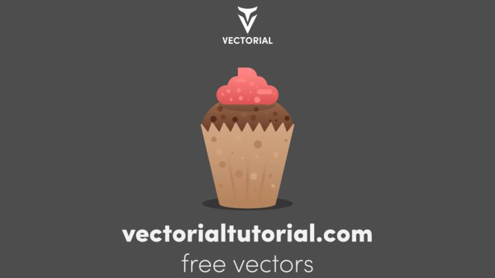 Flat design Cake Free vector illustration with cream