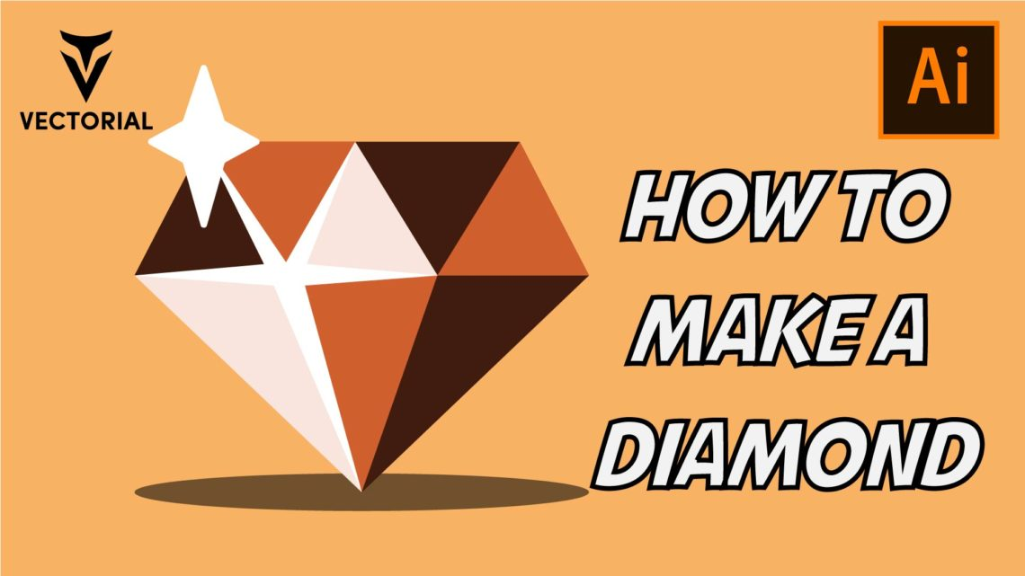 How to make a Diamond in Adobe illustrator – Super easy tutorial