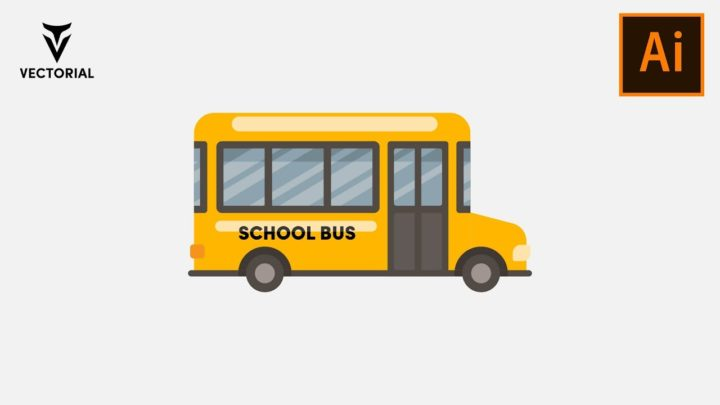 School Bus tutorial in Adobe Illustrator – Step by step