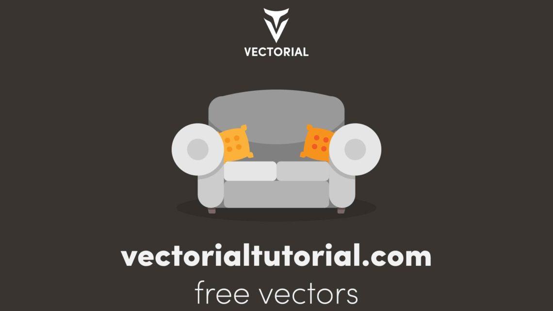 Flat design Sofa – Free vector illustration