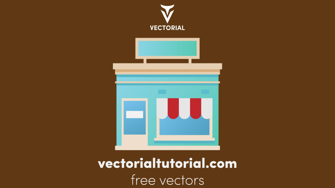 Shop building Free vector illustration