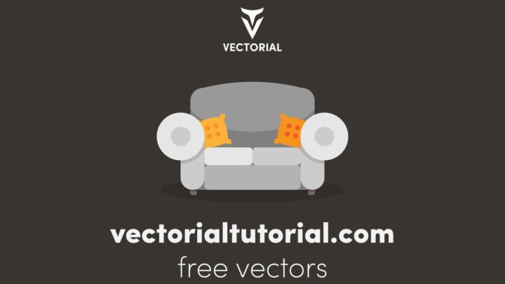 Flat design Sofa – Free vector illustration